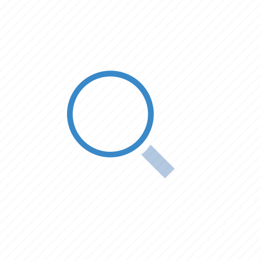 magnifying glass icon blue - photo #48