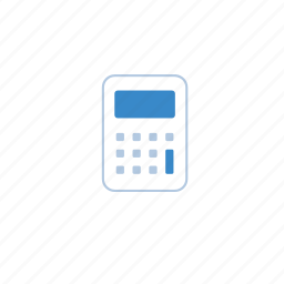 blue, calculate, calculator, marketing, maths icon
