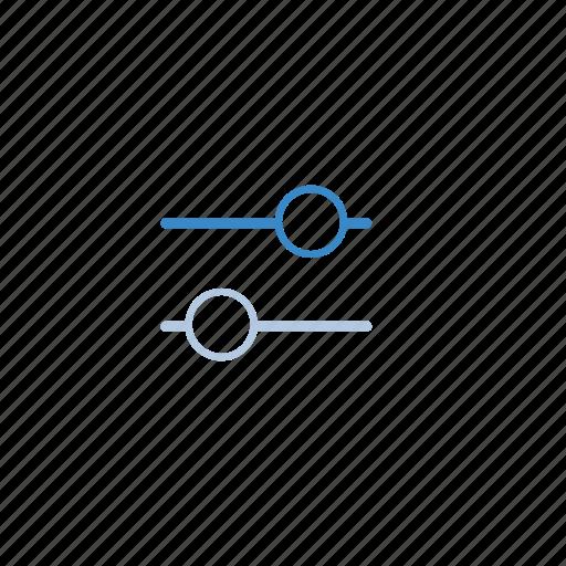 balance, blue, filter, level icon