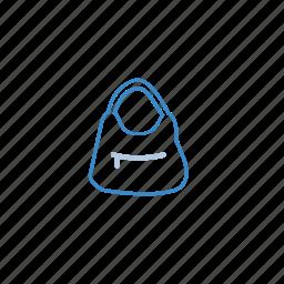 bag, blue, fashion, handbag, women icon