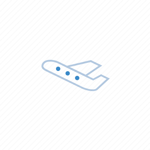 blue, business, flight, marketing, travel, trip icon