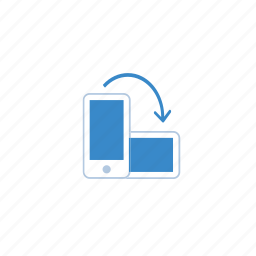 blue, device, devices, marketing, mobile, rotate, view icon
