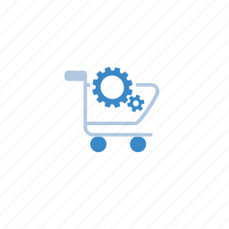 blue, ecommerce, edit, modify, shop, shopping, shopping cart icon