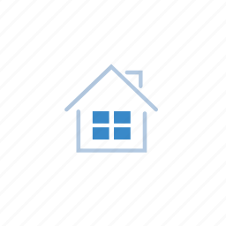 blue, home, house, mortgage, store icon