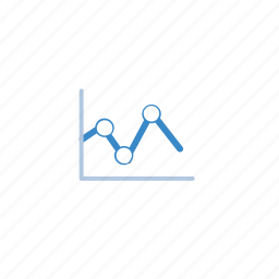 blue, chart, graph, marketing icon