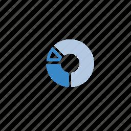 blue, chart, marketing, pie icon