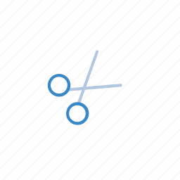 blue, cut, edit icon