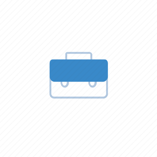 blue, briefcase, business, busy, marketing, office icon