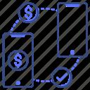 send, money, mobile icon