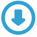arrow, atm, bottom, down, function, navigation icon