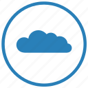 app, cloud, ipad, mobile, round, technology icon