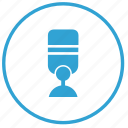 mic, microphone, music, radio, record, sound icon