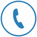 app, call, function, mobile, phone, round, service icon