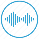 acoustics, sound, volume, wave icon