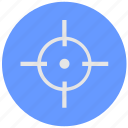 aim, blue, cursor, geo, pointer, round, service icon