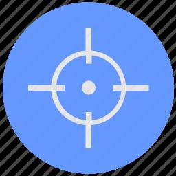 aim, blue, cursor, geo, pointer, round, service icon