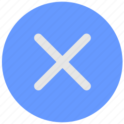 ban, blue, close, delete, geo, round, service icon
