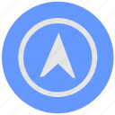 blue, compass, cursor, geo, instrument, pointer, round, service icon