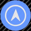 blue, compass, cursor, geo, instrument, pointer, round, service icon
