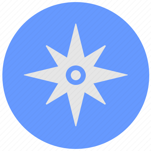 blue, compass, geo, instrument, round, service, side icon