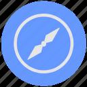 blue, compass, geo, navigator, round, service icon