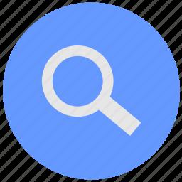 blue, find, geo, instrument, round, search, service icon