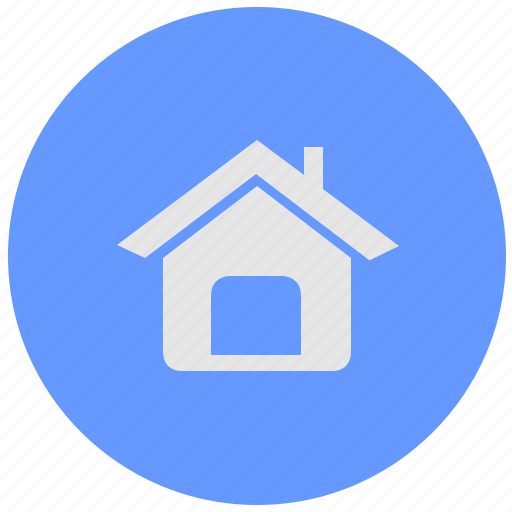 back, blue, geo, home, navigation, round, service icon