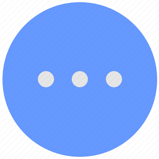 additional, blue, geo, horizontal, menu, round, service icon