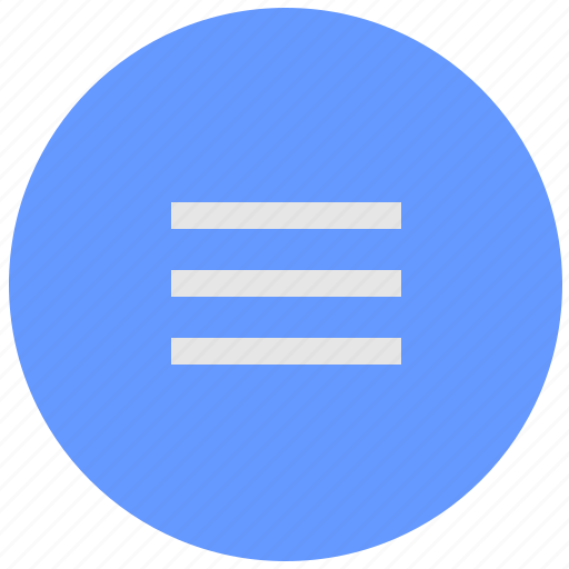 bar, blue, geo, menu, responsive, round, service icon