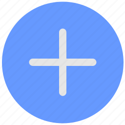 add, blue, create, geo, plus, round, service icon