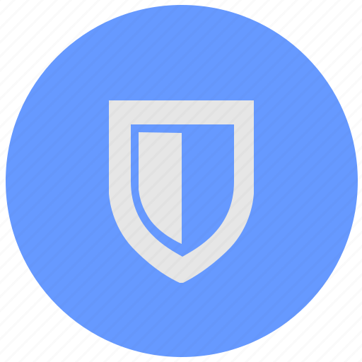 blue, geo, round, safety, security, service, shield icon
