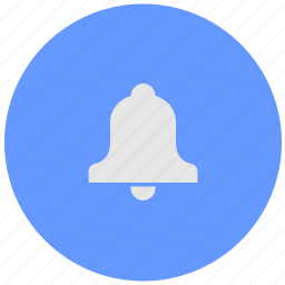 bell, blue, geo, ring, round, service, signal icon