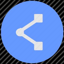 address, blue, geo, link, round, service, url icon