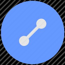 blue, geo, round, route, service, way icon