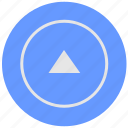 arrow, blue, geo, round, service, top, up icon