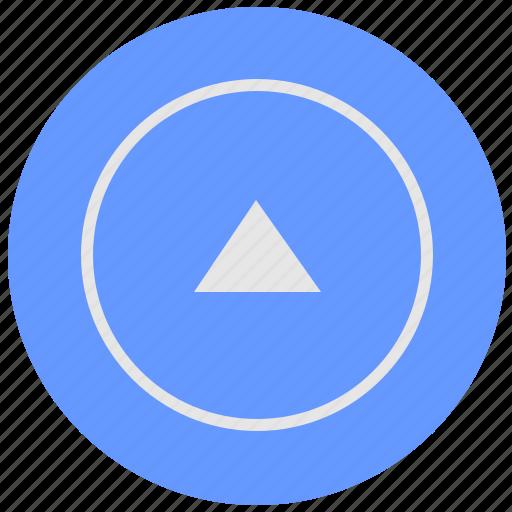 arrow, blue, geo, round, service, top, up icon
