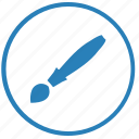 brush, draw, instrument, paint, round, tool icon
