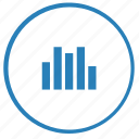 chart, data, function, report, round, statistics icon