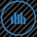 chart, data, function, report, round, statistics icon
