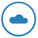 cloud, function, internet, player, server, technology icon