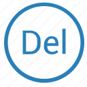 del, delete, player, playlist, track icon