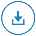 download, file, function, operation, round, storage icon