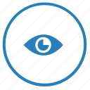 action, eye, layer, preview, round, view, visible icon