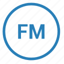 fm, function, mode, player, radio, ui icon