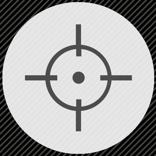 aim, cursor, geo, instrument, pointer, round, service icon