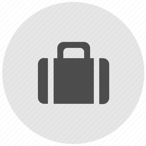 bag, geo, luggage, round, service icon
