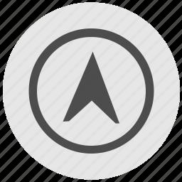 compass, cursor, geo, instrument, pointer, round, service icon