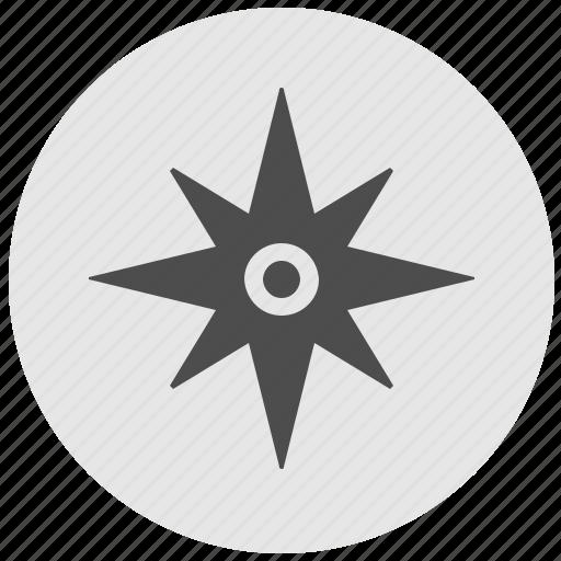 compass, geo, instrument, round, service, side icon