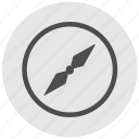 compass, geo, navigator, round, service icon