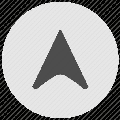cursor, geo, pointer, round, service icon